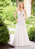 Lace Wedding Party Dress Tulle Beaded Beach Garden Bridal Dress N13074