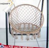 Cotton Hanger Chair for Home White and Blue Color Chair