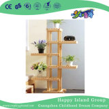 School Rustic Wooden Flower Display Shelf (HG-4110)