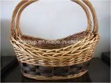 Handmade Cutomized Printed Handled Adorable Useful Wicker Fruit Basket
