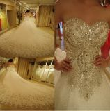 Rhinestones Wedding Dresses A-Line Strapless Crystals Bridal Ball Gown W14415