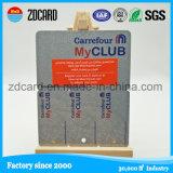 Printed Die Cut Plastic PVC Keychain Membership Combo Card