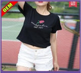 Custom Cotton Printed T-Shirt for Women (W229)