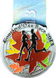Running Marathon Metal Medallion Medal with Ribbon (MD-01)