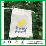High Quality Promotional Customized Calico Drawstring Bag