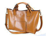 The Elegant Classic Fashion Handbag Made of Shiny Cow Leather