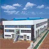 Steel Structure Industrial Workshop with Crane Mezzanine Floor (LTB-084)