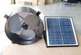 30W 14inch Axial Solar Attic Fan for Wall with Aluminum Blades and DC Brushless Motor (SN2015004)