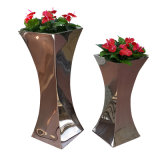 Hotel Outdoor Metal Stainless Steel Tall Decoration Flower Vase