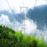 220kv Single Circuit Angle Steel Power Transmission Tower