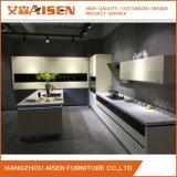 Aisen Australia White Lacquer Mixed PVC Wood Kitchen Cabinet for Villa
