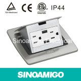 Stainless Electrical Receptacle Desk Socket Floor Socket Boxes