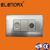 American Standard TV Socket with Tel Socket Outlet CE Certification Socket (AL2078F)