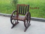 Single Wooden Leisure Coffee Outdoor Dining Garden Chair