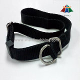 Black Nylon Webbing Dog Collar (with D-ring buckle)