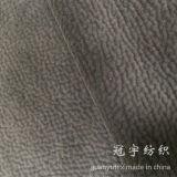 Grain Vein Embossed Style Velvet Fabric Bonded with Knitted Backing