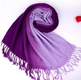 Wholesale Fringed 70% Pashmina 30% Silk Solid Color Plain Pashmina Scarf