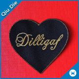 Cheap Iron on Back Applique Embroidery Felt Heart-Shaped Patches