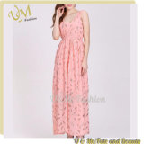 China Wholesale New Model Casual Maxi Long Dress Pink Dresses