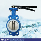 Butterfly Valve Wafer Type Rubber Lined Iron Body with Handle (D71X)