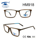 New Arrival Brown Acetate Optical Frame Eyewear Glasses (HM918)
