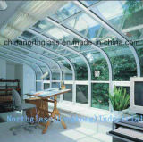 3-19mm Clear Hot Curved Glass for Bended Structure