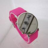 Promotional Fashion Waterproof LED Mirror Silicone Digital Watch