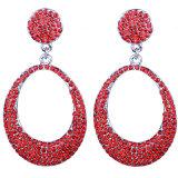 Exaggerated Earrings Bride Crystal Earrings Wholesale Crystal Round Earrings