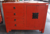 Antique Furniture Chinese Red Wooden Cabinet Lwb697