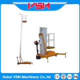 4m to 10m Single Mast Aerial Work Platform or Lift Table with Ce Certificate