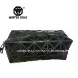 Fashion Black PVC Patch Hot on Fabric Cosmtic Bag
