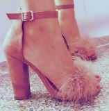 Womens Elegant Peep Toe Ankle Strap Block Heel Sandals Shoes