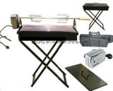 Folding Portable Camping Charcoal Rotisserie BBQ Grill