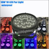 Outdoor Use 18*18W Waterproof LED Flat PAR Can