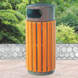 Outdoor Camphor Wooden Trashbin Hot Sale Recycling Waste Bin