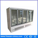Supermarket/Convenience Store Vertical Glass Door Reach in Cooling/Freezing Cabinets