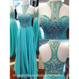 Beading Prom Dress Blue Special Occasion Pageant Dresses P3123