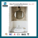 America Hot Sale Simple Designed Decorative Framless Round Wall Mounted Silver Mirror for Bathroom Supplies