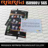 13.56MHz Reusable Logo Printable RFID Tag/Ticket for Vehicle