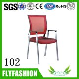 OC-102 Office Furniture Red Meeting Armrest Mash Fabric Chair