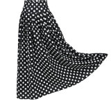 2017 Newest Woman Design Apparel Black and White Dots Print Long Beach Skirt