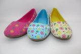 Canvas Flowers Printing Children Flat Walking Shoes