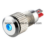 8mm LED Indicator Waterproof Nickel Plated Brass Pilot Lamp