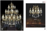 Jade Anti-Brass Zinc Alloy Crystal Chandelier Light 8L