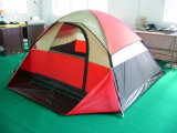 Family Tent Camping Tent for 2-3 Person with Half Cover