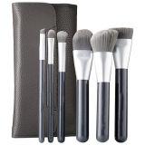 Deluxe Antibacterial 6 Pieces Leather Bag Makeup Brush Set