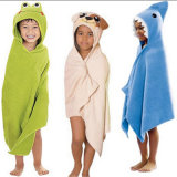 Baby Cotton Bath Hooded Towel with High Quality