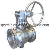 Stainless Steel Worm Gearbox Operated Trunnion Ball Valve ANSI 300lb