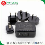 EMI/EMC Certified 4 Port USB Charger 5V 4.6A for Electronic  Products