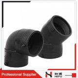45 90 Degree PE Polyethylene Plastic Pipe Fitting Elbow